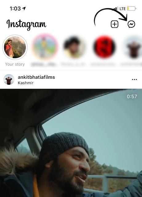 Open DM on Instagram