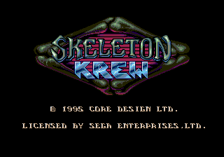 Skeleton Krew title screen