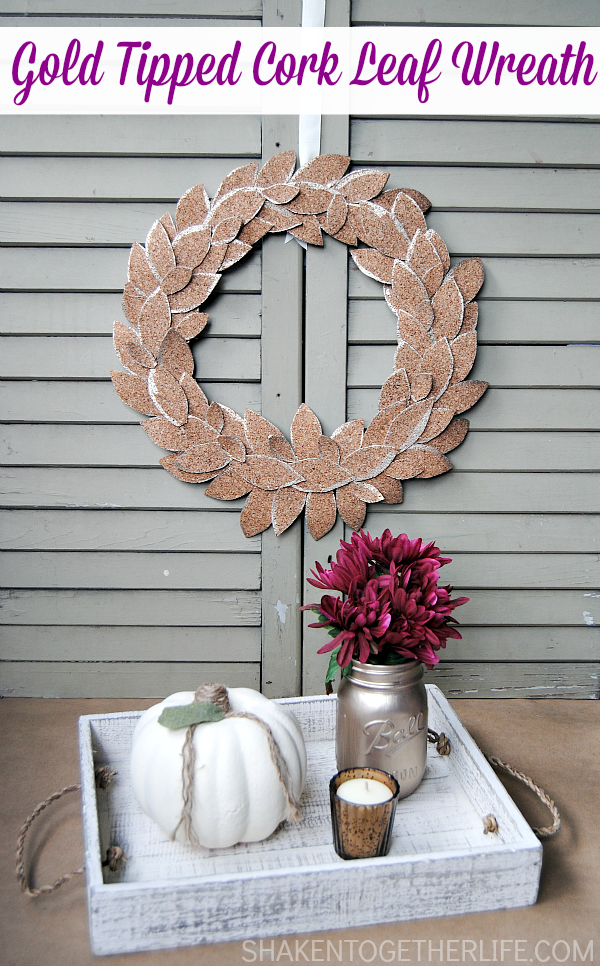 Cork leaf wreath