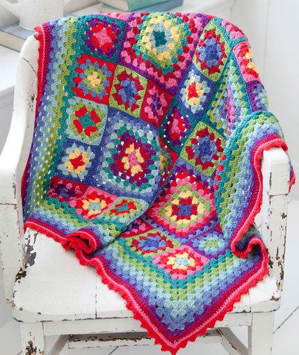 Fiber Flux Colorful Blankets 12 Free Crochet Patterns