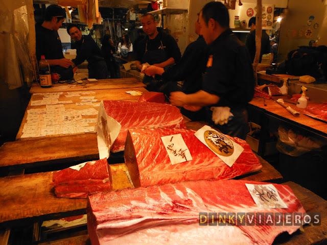 Atún en el mercado de Tsukiji