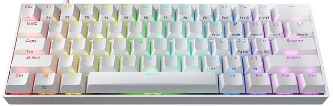 Durgod HK Venus 60% Mechanical White Keyboard for Gaming