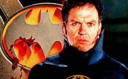 Michael Keaton's Batman Bloody logo revealed from Flash Movie