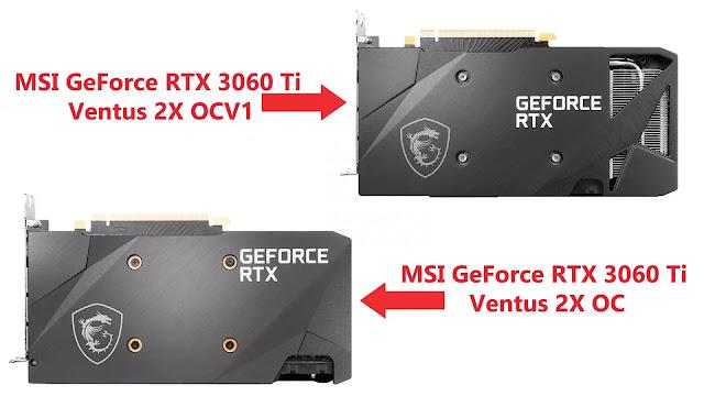 MSI-GeForce-RTX-3060-Ti-Ventus-2X-OCV1-vs-MSI-GeForce-RTX-3060-Ti-Ventus-2X-OC-Back-Plate