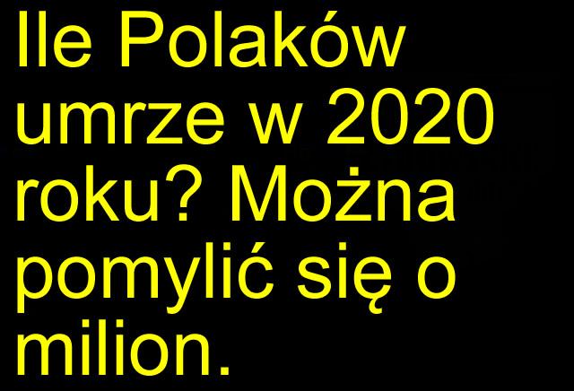 wysoka umieralność w polsce 2020