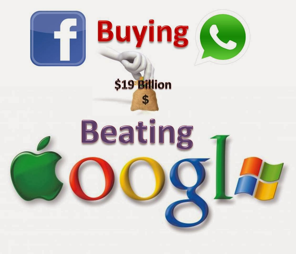 Facebook Buying WhatsApp in $19 Billion: Beating Google, Apple & Microsoft in Acquisition History