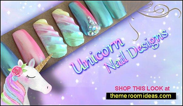 Unicorn False Nails Holographic Nails - Iridescent Nails  glitter nails Unicorn nail designs