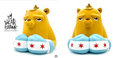 The Bear Champ OG Pose Chicago Edition Vinyl Bust by JC Rivera x UVD Toys