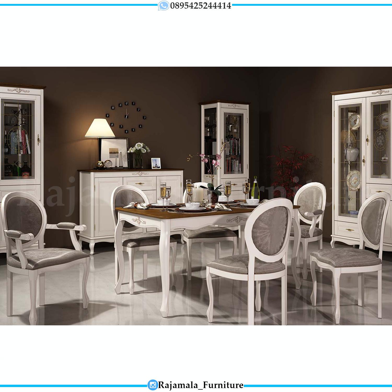Meja Makan Minimalis Valencia Modern Type Furniture Jepara RM-0134