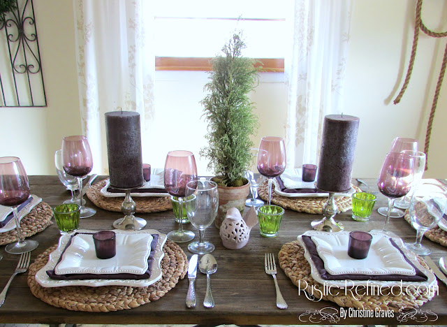 Romantic table using white dishes