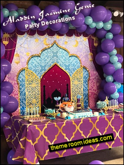 aladdin jasmine genie party decorations arabian theme party decor