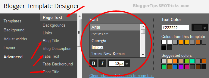 how to use google fonts in blogger