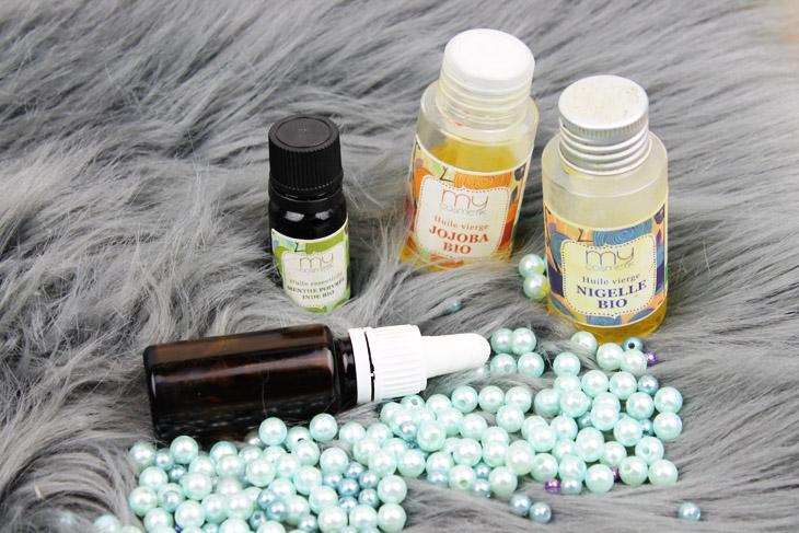 Les ingrédients pour une recette de sérum anti acné