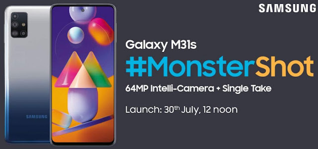 Samsung Galaxy M31s To Be Launch With FullHD+ Super AMOLED Display, 64MP Quad Rear Camera, 6000mAh Battery & More