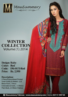 Mausummery Pakistan F/W Linen Suits-14/15