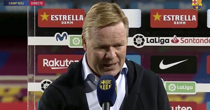 'our transition in the attack has been optimal': Koeman impressed with Barca first half performance