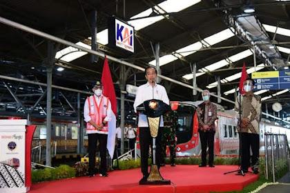 Resmikan KRL Yogyakarta-Solo, Presiden: Ini Transportasi Massal Ramah Lingkungan