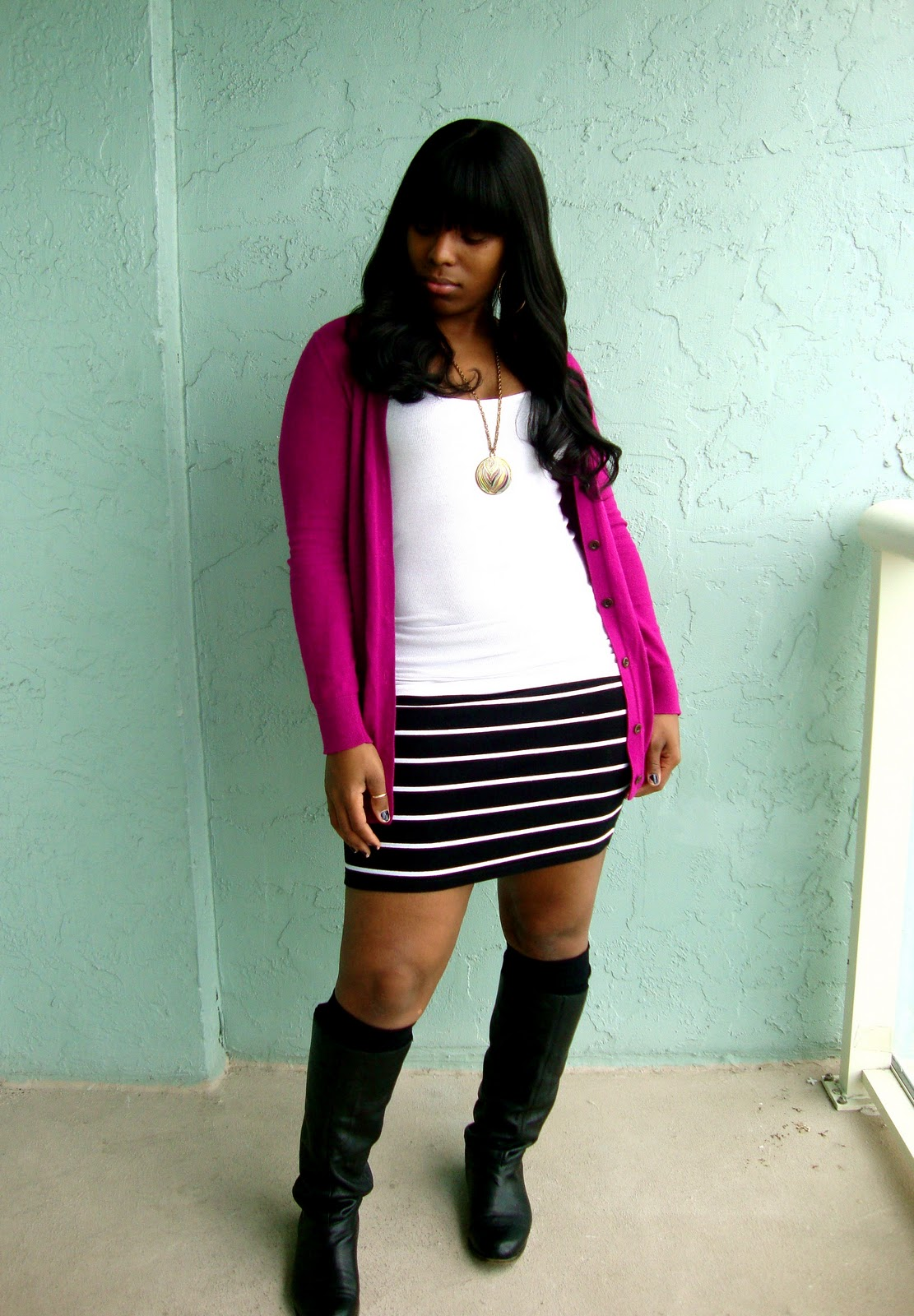 Weekend Wear Knee High Socks Curves And Confidence