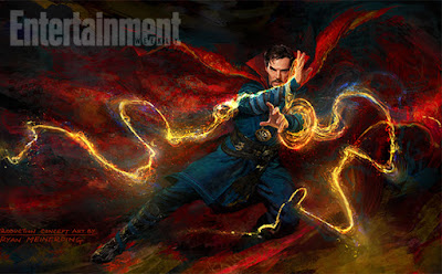 San Diego Comic-Con 2016 Exclusive Doctor Strange Concept Art Movie Poster by Marvel