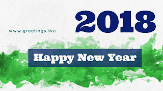 Green white mild mix New Year wishes 2018 image