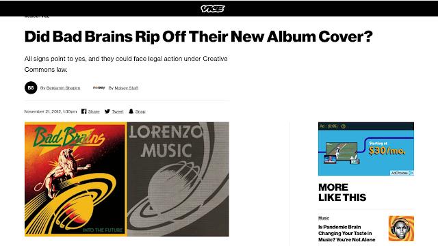 screenshot of music blog article