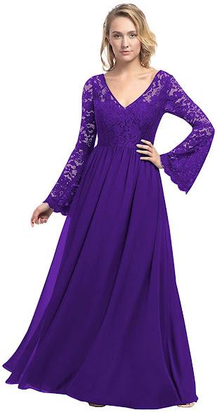 Elegant Purple Mother of The Groom Dresses