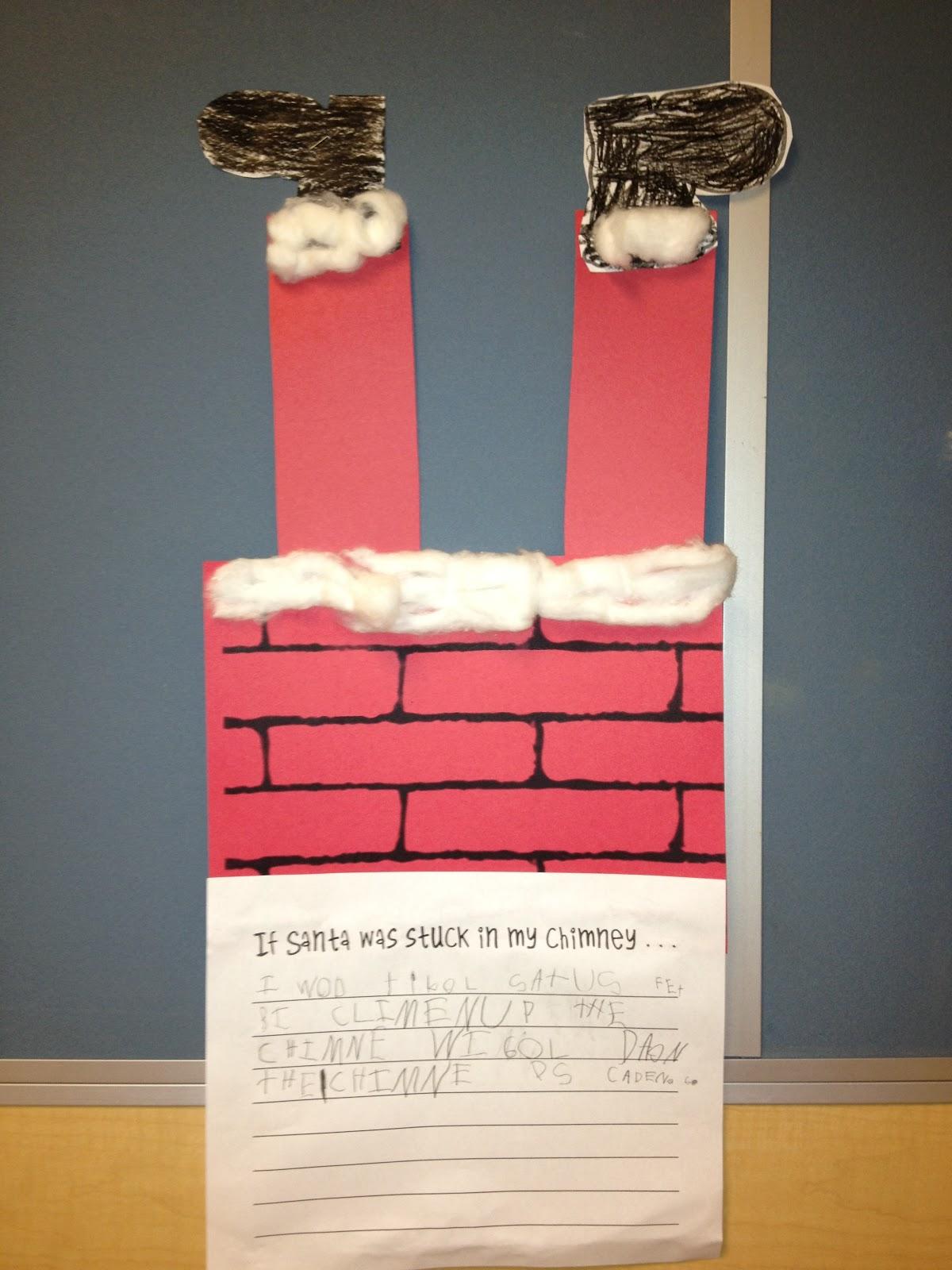 Santa's Stuck Writing Craftivity