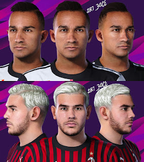 PES 2021 Faces Danilo & Theo Hernandez by LR7