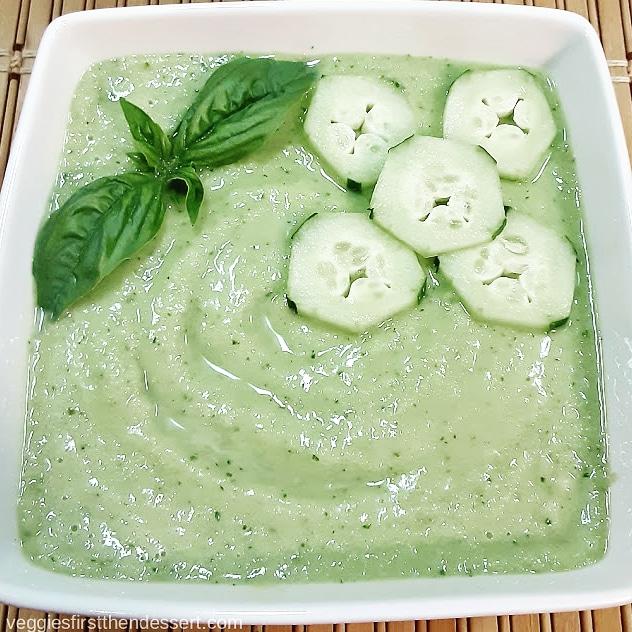 Veggies First Then Dessert: Chilled Cucumber Gazpacho
