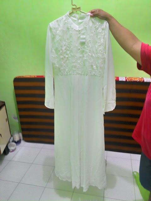 Model Gamis Sifon Warna Putih Tanah Abang