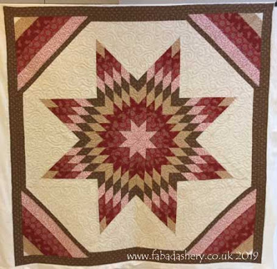 Lone Star quilt made by Paula in French General Fabrics
