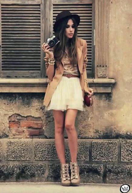 faldas cortas con encaje