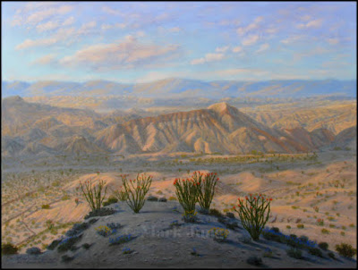 Carrizo Badlands,Anza-Borrego,California,CA,Desert State Park,ocotillo,cloud shadows,sundown,sunset,late afternoon,barren,desert