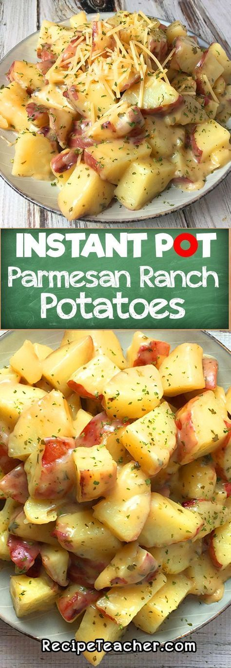 This recipe for Ranch Potatoes with Parmesan from an Instant Pot is easy to make. They will surely be your favorite Potatoes with Parmesan.