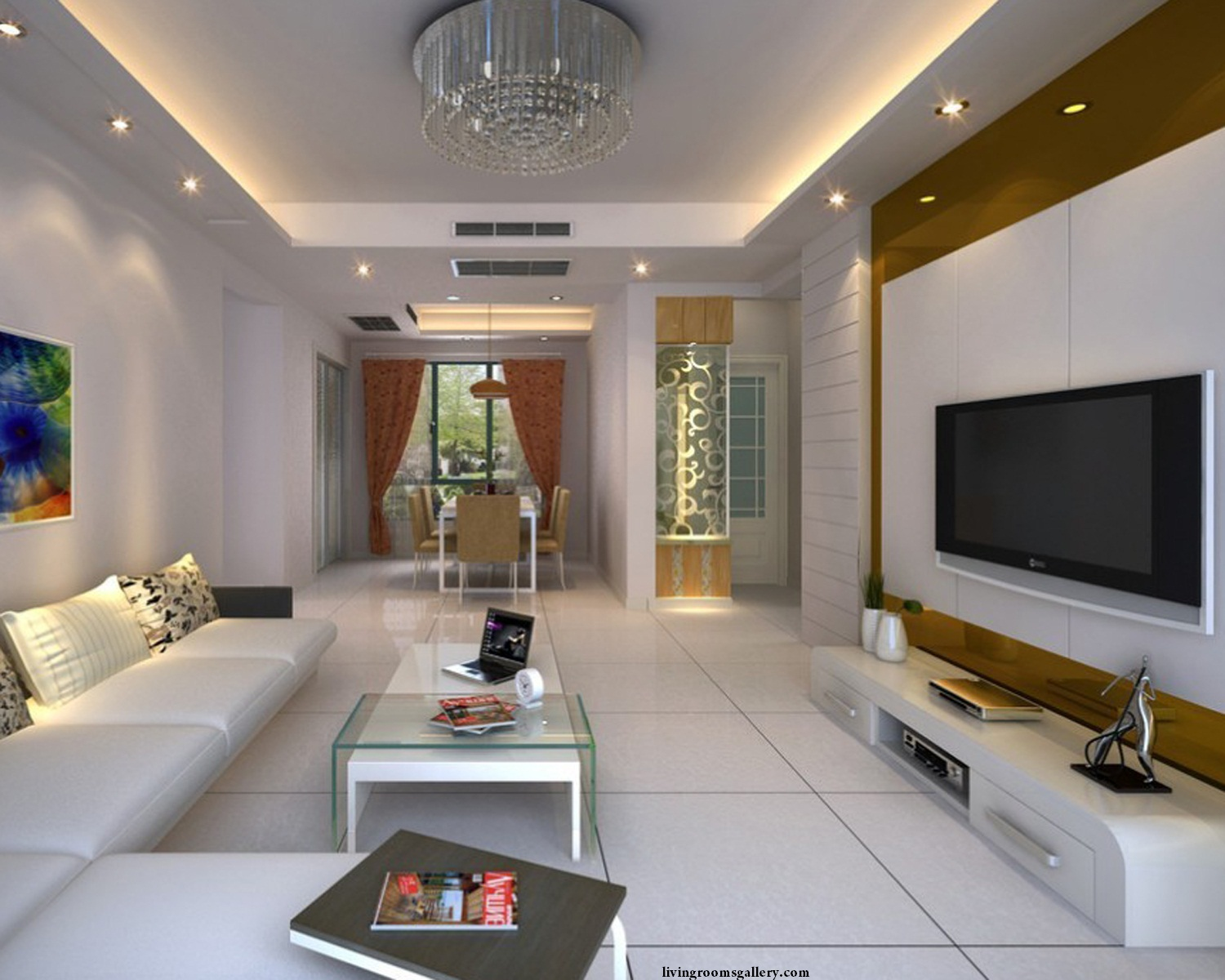 25 Pop False Ceiling Designs with LED Ceiling Lighting ...