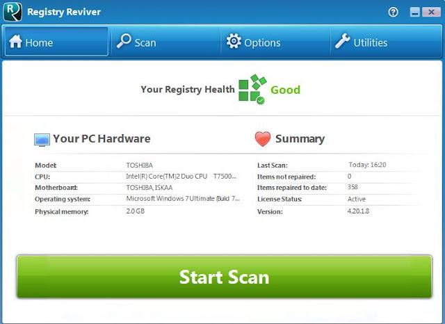 حل جميع مشاكل الكمبيوتر وتسريع الجهاز ببرنامج Registry Reviver 4.20.1.8