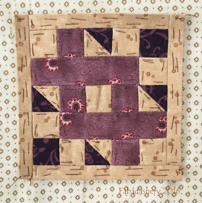 Dear Jane Quilt - Block K1 Crooked Creek