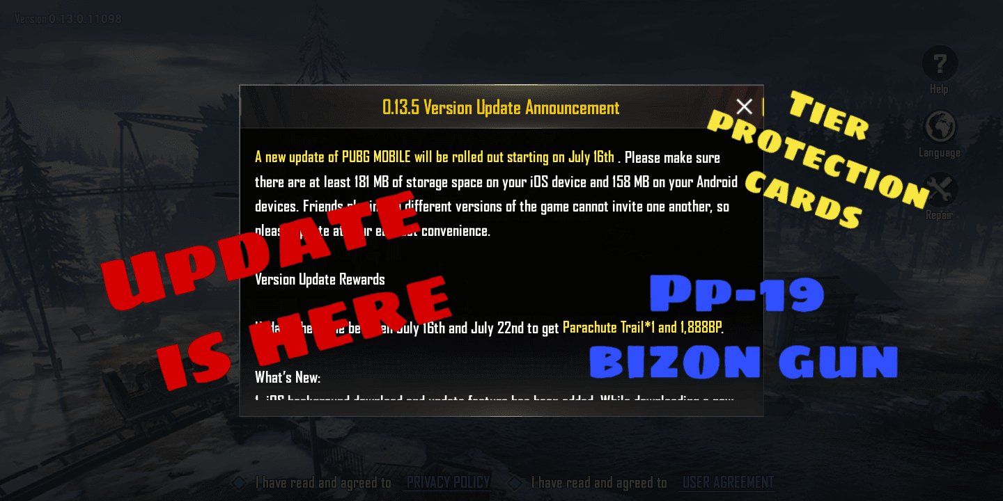 Pubg mobile 0 13 5 update release date, size, new weapon