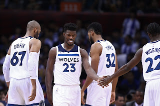 Jimmy Butler, Andrew Wiggins, Karl Anthony-Towns