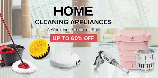 Promoção nos gadgets de limpeza na Tomtop