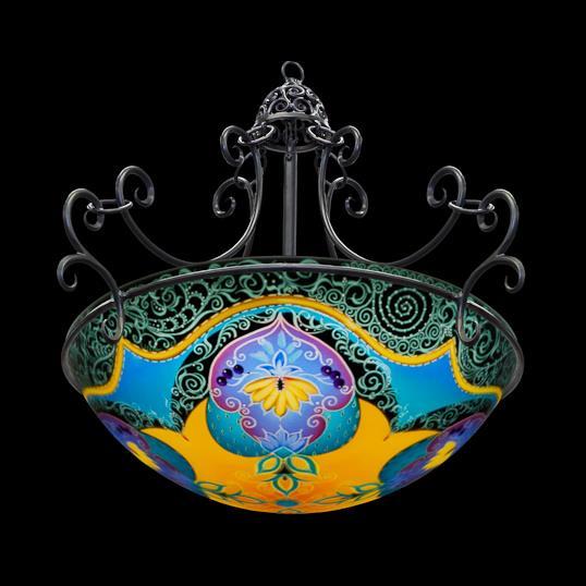 ręcznie malowane lampy