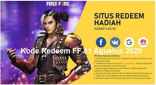 Kode Redeem FF 11 Agustus 2020