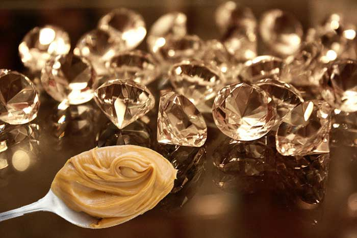 How To Make peanut butter into diamonds