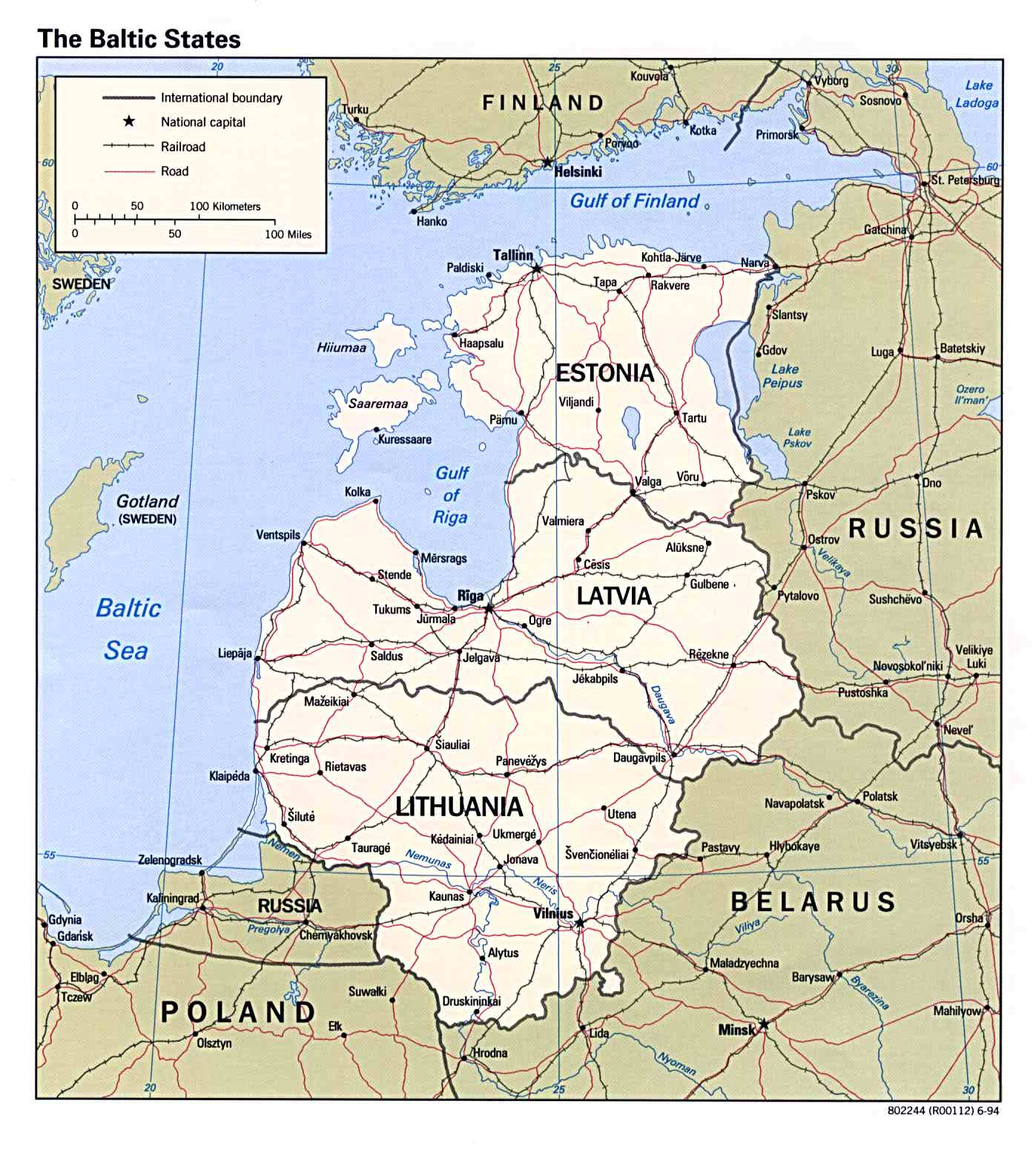 of the three baltic states estonia and latvia are the most exposed and share a border with mainland russia