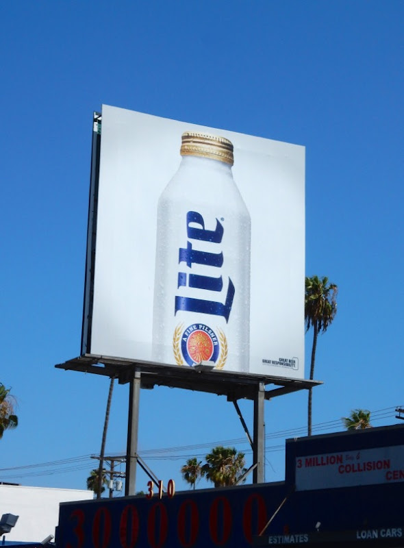 Miller Lite beer billboard