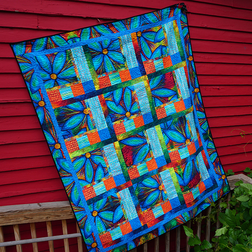 Window Panes Quilt Designed by Sue Penn for Free Spirit Fabric, Tech edited by Linda Griepentrog, featuring Garden Brighter