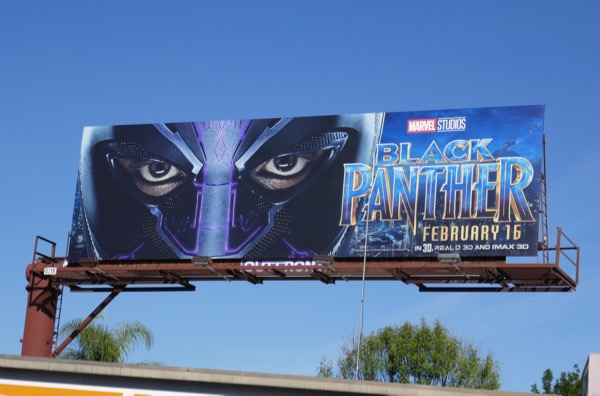 Black Panther mask billboard