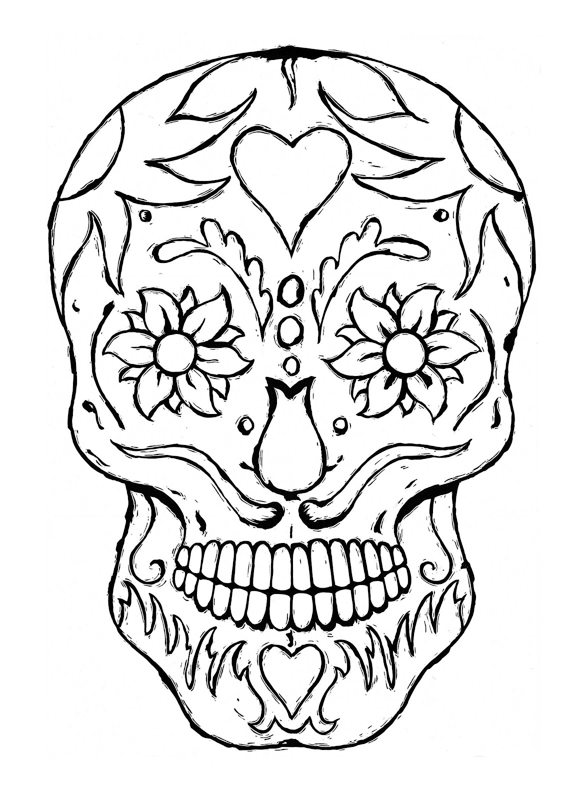 cool halloween skull coloring pages - photo#17