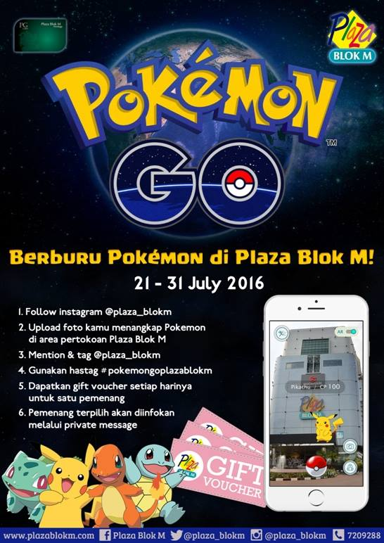 berburu Pokemon di Jakarta - Plaza Blok M
