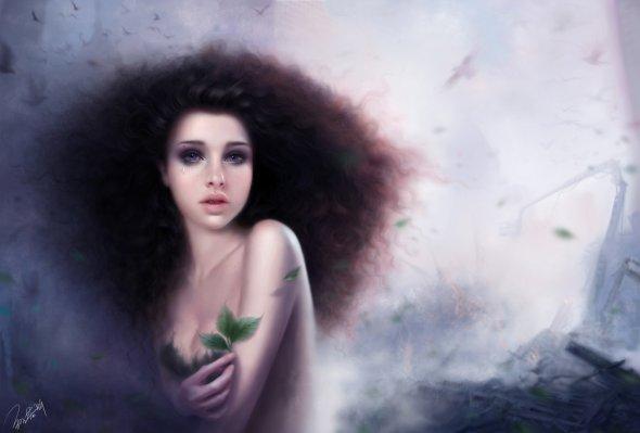 Ruoxin Zhang artstation arte ilustrações fantasia mulheres